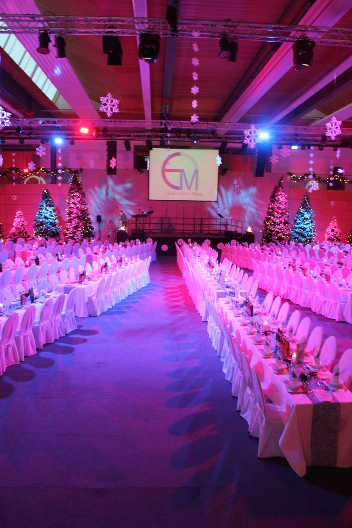 Gala; Illumination; Eventlocation; Bühnenbau; Licht; Ton; Eventtechnik
