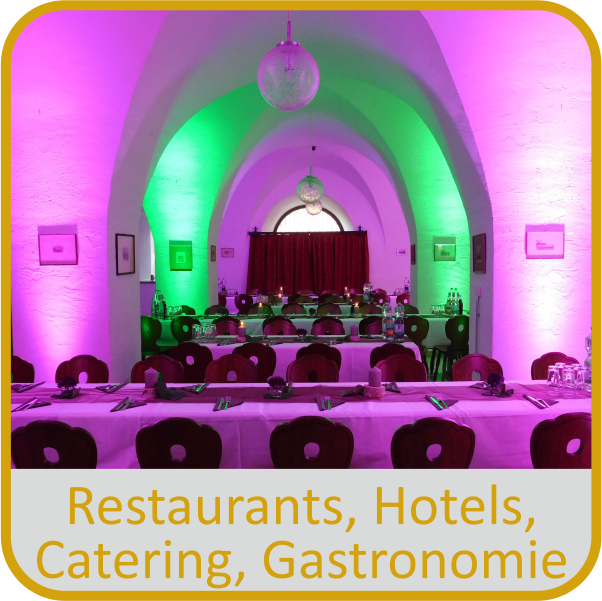 Festinstallationen in Hotels, Restaurants, Gastronomie und Catering